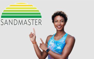 Sandmaster stöttar världsmästaren Malaika Mihambo